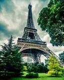 De Toren van Eiffel in HDR Stock Afbeeldingen