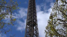 De toren van Eiffel van het gebied van Mars stock videobeelden