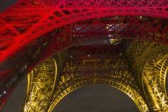 De toren van Eiffel in kleuren Stock Afbeeldingen