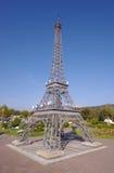 De Toren van Eiffel in miniatuur, een replica van Minimundus, Klagenfurt, Oostenrijk Royalty-vrije Stock Foto's