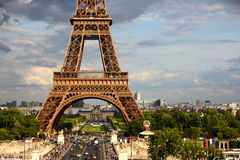 De Toren van Eiffel - Parijs Stock Foto