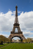 De Toren van Eiffel in Parijs stock afbeeldingen