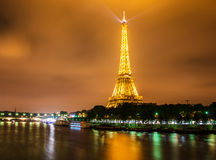 De Toren van Eiffel in Parijs eiffel Royalty-vrije Stock Afbeeldingen