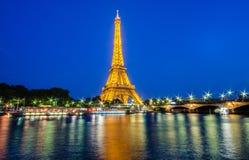 De Toren van Eiffel in Parijs eiffel Stock Foto