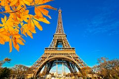 De Toren van Eiffel, Parijs, Frankrijk royalty-vrije stock afbeelding