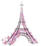 De Toren van Eiffel, Parijs, Frankrijk royalty-vrije illustratie