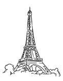 De toren van Eiffel in Parijs, Frankrijk vector illustratie
