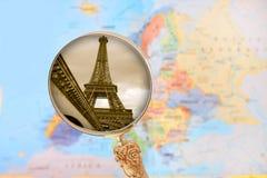 De Toren van Eiffel, Parijs, Frankrijk Stock Foto's