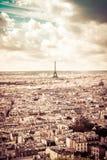 De toren van Eiffel in sepia, Parijs, Frankrijk Stock Foto's