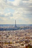 De toren van Eiffel, stadsmening van Montmartre, Parijs, Frankrijk Royalty-vrije Stock Afbeelding