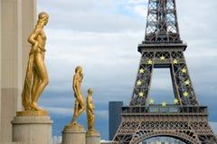 De Toren van Eiffel van Trocadero Stock Afbeeldingen