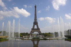 De toren van Eiffel van Trocadero in Parijs Stock Afbeeldingen