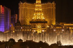 De Toren van Eiffel in Vegas Stock Foto's