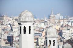 De Toren van Galata in Istanboel, Turkije stock fotografie