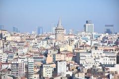 De Toren van Galata in Istanboel, Turkije royalty-vrije stock fotografie