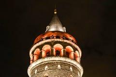De toren van Galata in Istanboel Turkije stock foto's