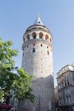 De toren van Galata in Istanboel Turkije royalty-vrije stock afbeeldingen
