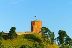 De Toren van Gediminas, Vilnius, Litouwen Royalty-vrije Stock Foto