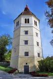 De toren van Glockenturm in Schlossberg - Gras Oostenrijk Royalty-vrije Stock Foto's