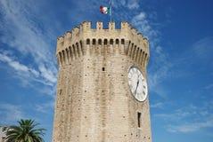 De toren van Gualtieri in San Benedetto del Tronto Stock Afbeelding