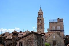 De toren van heilige Domnius in Spleet, Stock Afbeeldingen