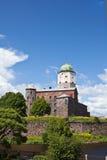 De toren van heilige Olaf in Vyborg Stock Foto's