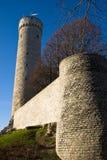 De toren van Herman in Tallinn `s Oldtown Estland Stock Foto