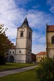 De toren van het de stadscentrum van Levoca stock afbeeldingen