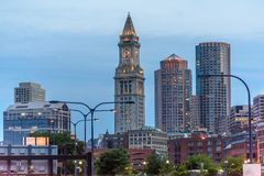 De Toren van het douanehuis in Boston stock foto