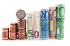 De toren van het geld - bankconcept Stock Foto