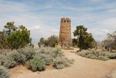 De Toren van het horloge bij Grote Canion Stock Foto