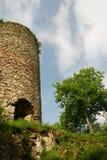 De toren van het kasteel stock afbeeldingen