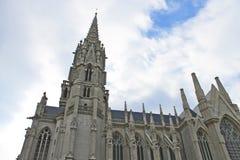 De toren van het kasteel in Brussel Stock Foto