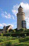 De toren van het kasteel in Duitsland Stock Afbeeldingen