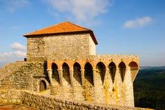 De toren van het kasteel, Ourem Stock Foto