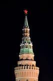 De Toren van het Kremlin en Rode Ster, Moskou royalty-vrije stock foto's