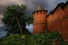 De toren van het Kremlin, Nizhny Novgorod, Rusland Stock Foto