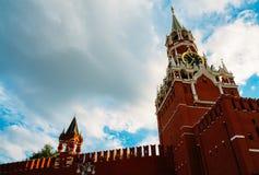 De toren van het Kremlin Spasskaya stock fotografie