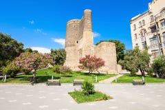 De Toren van het meisje in Baku Stock Foto