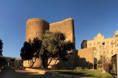 De Toren van het meisje (Baku) Stock Fotografie