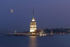De toren van het meisje van Istanboel Stock Foto's