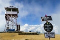 De toren van het meningspunt in Poonhill 3.210 m toren, Nepal Stock Foto