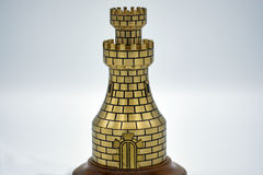 De toren van het metaalschaak Stock Fotografie