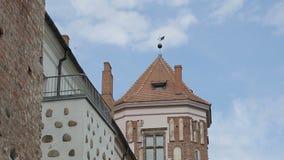De Toren van het Oude Kasteel stock footage