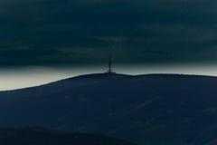 De toren van het Pradedvooruitzicht, nachtmening royalty-vrije stock afbeeldingen