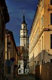 De toren van het Stadhuis in Kaunas, Litouwen Royalty-vrije Stock Fotografie