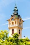 De toren van het Stadhuis in Szeged Het huidige Stadhuis is het derde gebouw in dezelfde plaats met dezelfde functie royalty-vrije stock afbeeldingen