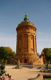 De Toren van het water in Mannheim, Duitsland Stock Foto