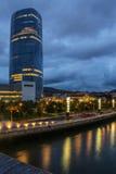 De Toren van Iberdrola - Bilbao - Spanje stock foto's