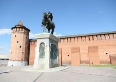 De toren van Kolomenskayamarinkina Monument aan de heilige prins Dmitry Donskoy Kolomna het Kremlin, bouwde 1525-1531 in Kolomna  stock afbeeldingen